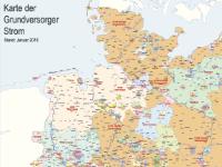 Lutum+Tappert Karte der Grundversorger Strom