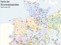 Lutum+Tappert Karte der Stromnetzbetreiber